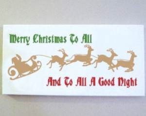 , Persona lized Canvas Quote Art, Merry Christmas to All and to All ...