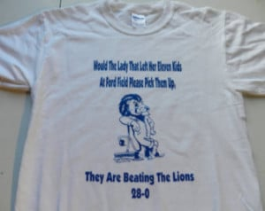 Detroit Lions Ford Field Eleven Kids Are Beating The Lions Lion T ...