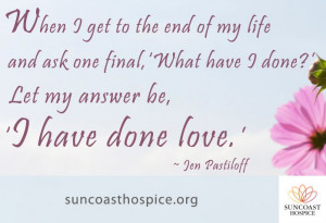 When I get to the end of my #life and ask one final
