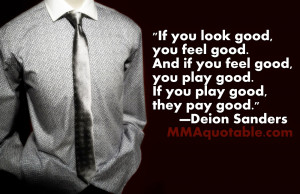 If you look good, you feel good. And if you feel good, you play good ...