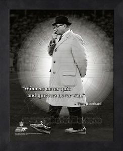 ... Lombardi Green Bay Packers 11x14 Black Wood Framed Pro Quotes Photo #3