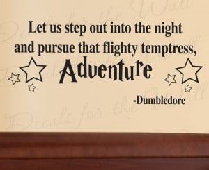 Adventure Dumbledore Harry Potter Wall Decal Quote