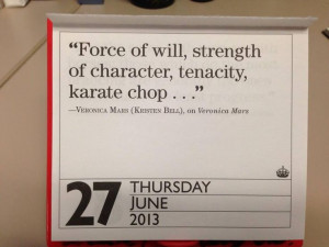 Quote of the Day calendar.