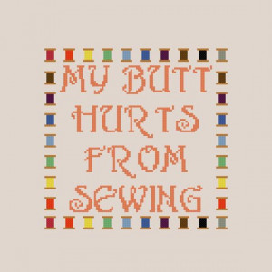 Cross Stitch Patterns Funny Quotes