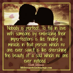 Nobody Is Perfect..