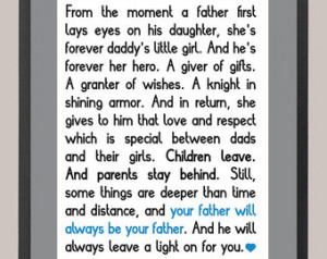 Wonder Year's Daddy's Girl Quote 11 x 14 Inspiration Print ...