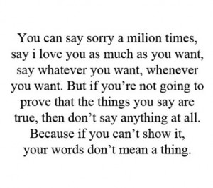 the things you say don t say anything at all