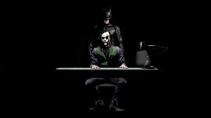 Batman and Joker - The Dark Knight wallpaper