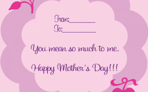 Wallpaper: Mother's Day Card