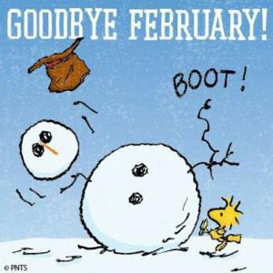 Goodbye February