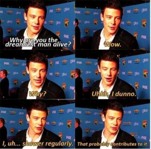 cory monteith, glee, quotes, rip