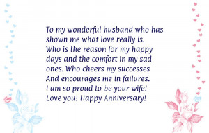 Happy Anniversary to My Husband Saying