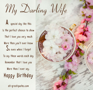 Happy Birthday Wife Cards – My Darling Wife