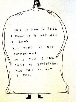 art quote fat anorexia self image important david shrigley how i feel ...