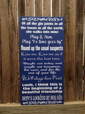 ... Sign 12x20 Custom Personalize Anniversary Quotes Old Classic Hollywood