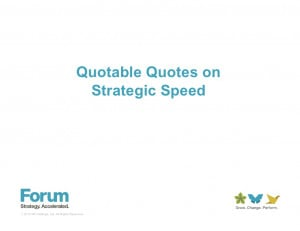 Strategy execution quotes