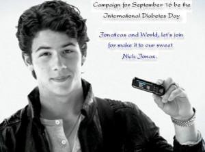 Nick Jonas Diabetes Quotes