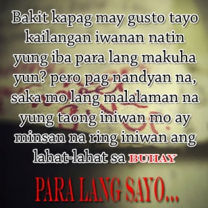... Tagalog Sad Love Quotes That Make You Cry Tagalog Love Quotes Really