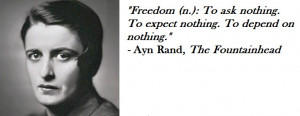 Venerable Quotes on Independence in Ayn Rand