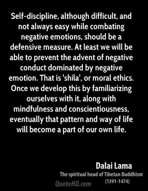 Self-discipline, although difficult, and not always easy while ...