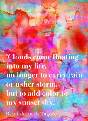 Clouds come floating into my life no longer to carry rain or usher ...