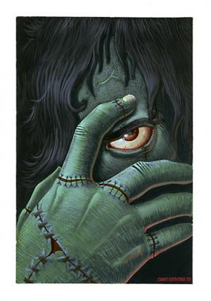 Cgoose › Portfolio › Frankenstein book cover