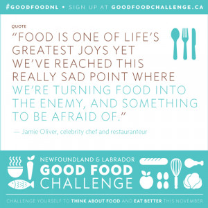 NL Good Food Challenge: A Quote from Jamie Oliver