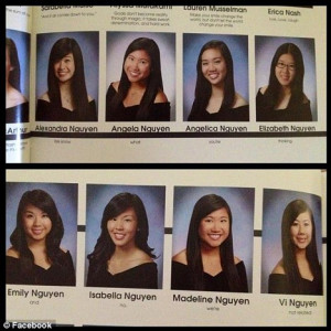 senior year quote ever? EIGHT school girls with the same last name ...