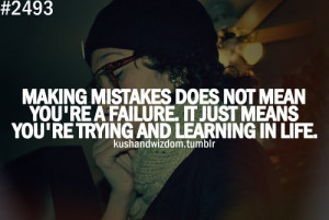 Motivational Wallpaper on Failure : Making mistakes does not mean you ...