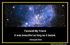 death of a friend from my collection of friendship quotes