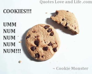 Quotes about life cookie monster