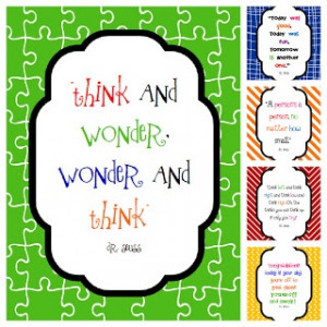 Fun For First: Dr. Seuss Quotes Printables and Reminder.
