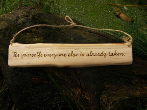 original hand engraved oscar wilde quote on wood jpg