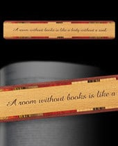 ... reading is an excellent way to go. This wood bookmark encourages