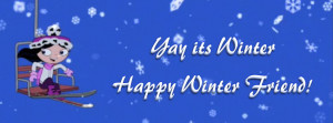 Happy Winter Quotes Facebook Timeline Cover