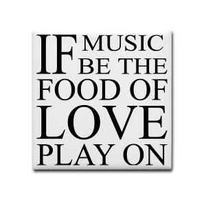 Music-Food-Love Quote Tile Coaster > Music-Food-Love Quote > Home ...