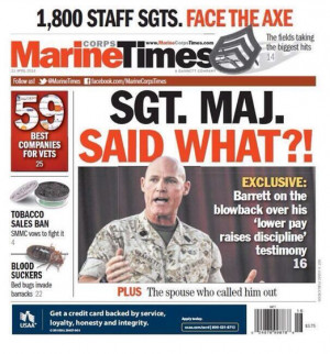 Today's front page of the Marine Corps Times