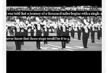 Marching band inspirational quotes for DCHS / by Sydney Crowder