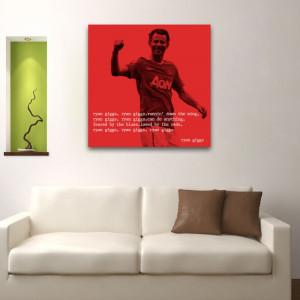 man u ryan giggs quote 2 square wall art