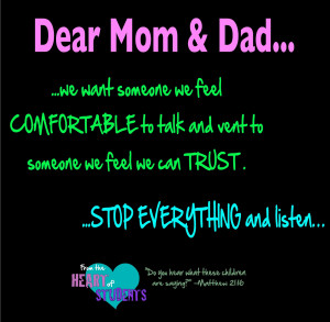 From the Heart of Students: Dear Mom and Dad #2