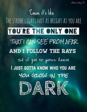 Most popular tags for this image include: the wanted, glow in the dark ...