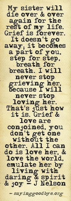 The tears come in waves. I love the signs I've gotten from her. I know ...