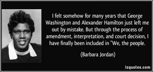 ... for many years that George Washington and Alexander Hamilton