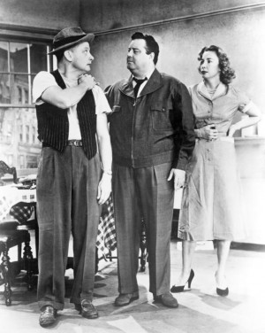 THE HONEYMOONERS....Jackie Gleason (Ralph); Alice (Audrey Meadows) and ...