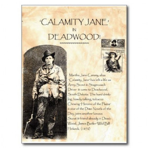 Calamity Jane Post Card from Zazzle.com