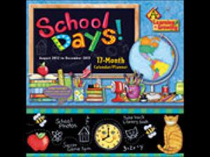 School Days 2013 Pocket Wall Calendar