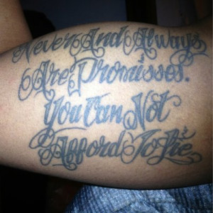 Faith Quote Tattoo On Biceps