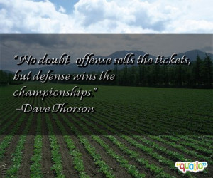 No doubt — offense sells the tickets,