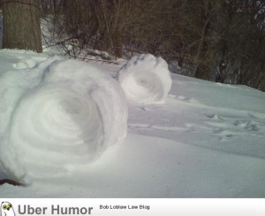 The wind is blowing so hard in Ohio that the snow is rolling itself up ...
