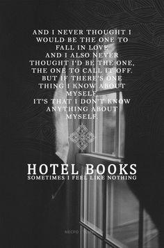 Hotel Books Sometimes I Feel Like Nothing